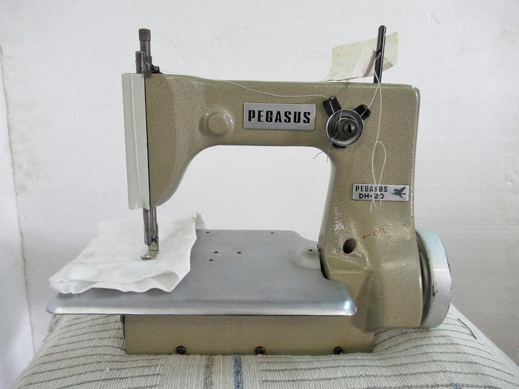 【中古】 ペガサス 日本製 モデルNO DH-20型 頭部のみ 1本針1本糸 粗目送り用単環縫いミシン