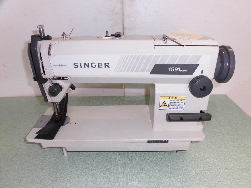 【中古】厚物用1本針本縫いミシン 日本製 中古 シンガー1591D型 頭部のみ