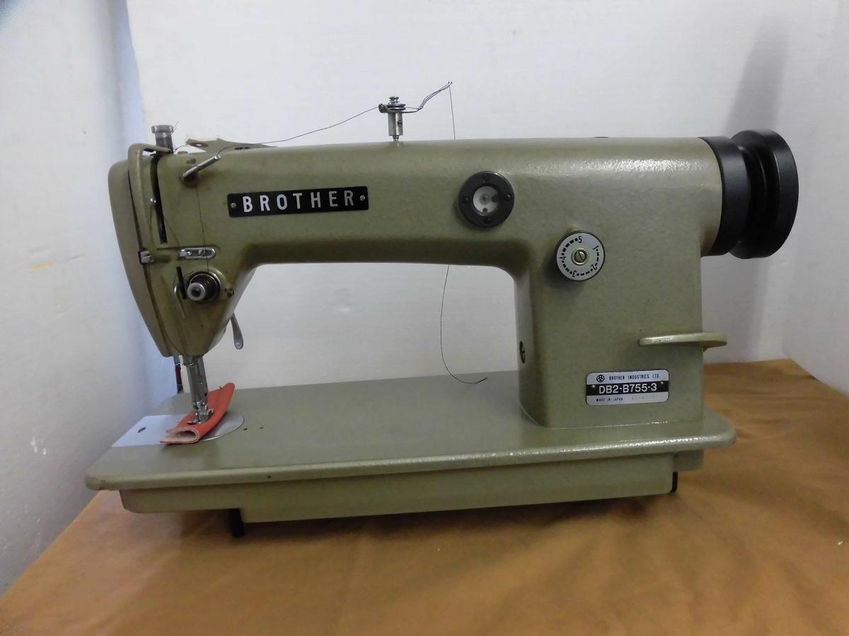 【中古】 ブラザー Brother 1本針本縫いミシン モデルNO-DB2-B755-3型 頭部のみ