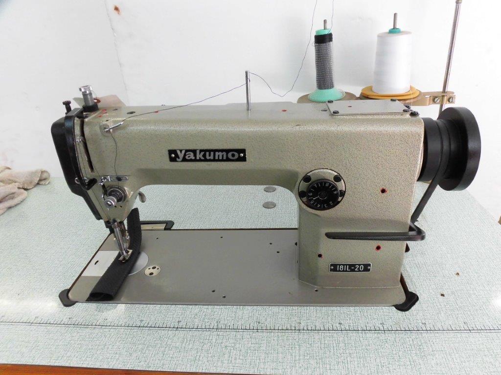 【中古】 ヤクモ181L型 1本針上下送り機構付きミシン テーブル・脚・モーターは、縫製品に合わせて別途お見積りいたします。
