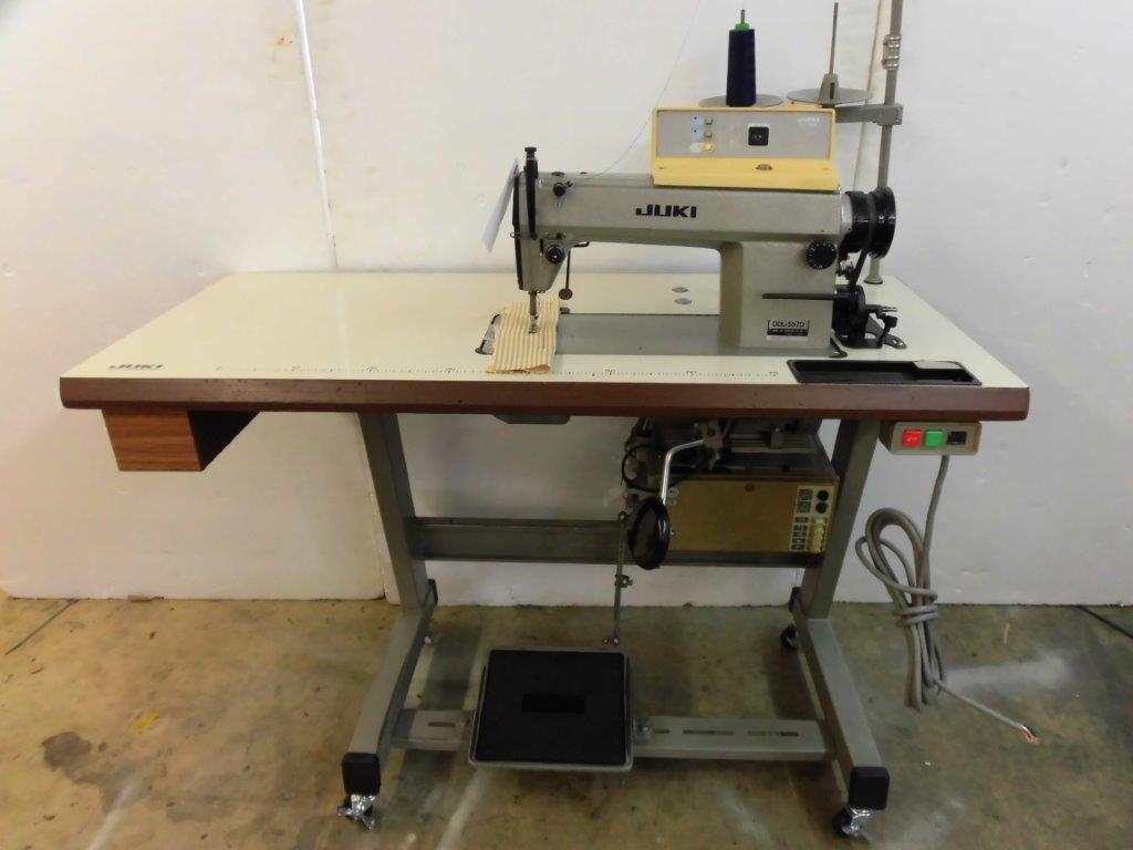【中古】JUKI ジューキ 1本針本縫い自動糸切装置付きミシン DDL-5570 SC120 型200V仕様