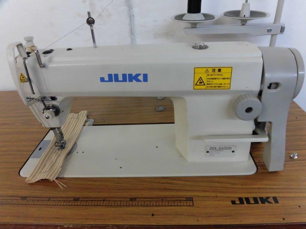【中古】ジューキ JUKIミシン ジューキ JUKI 1本針本縫いミシン。モデルNO- DDL-5530N型 頭部のみ