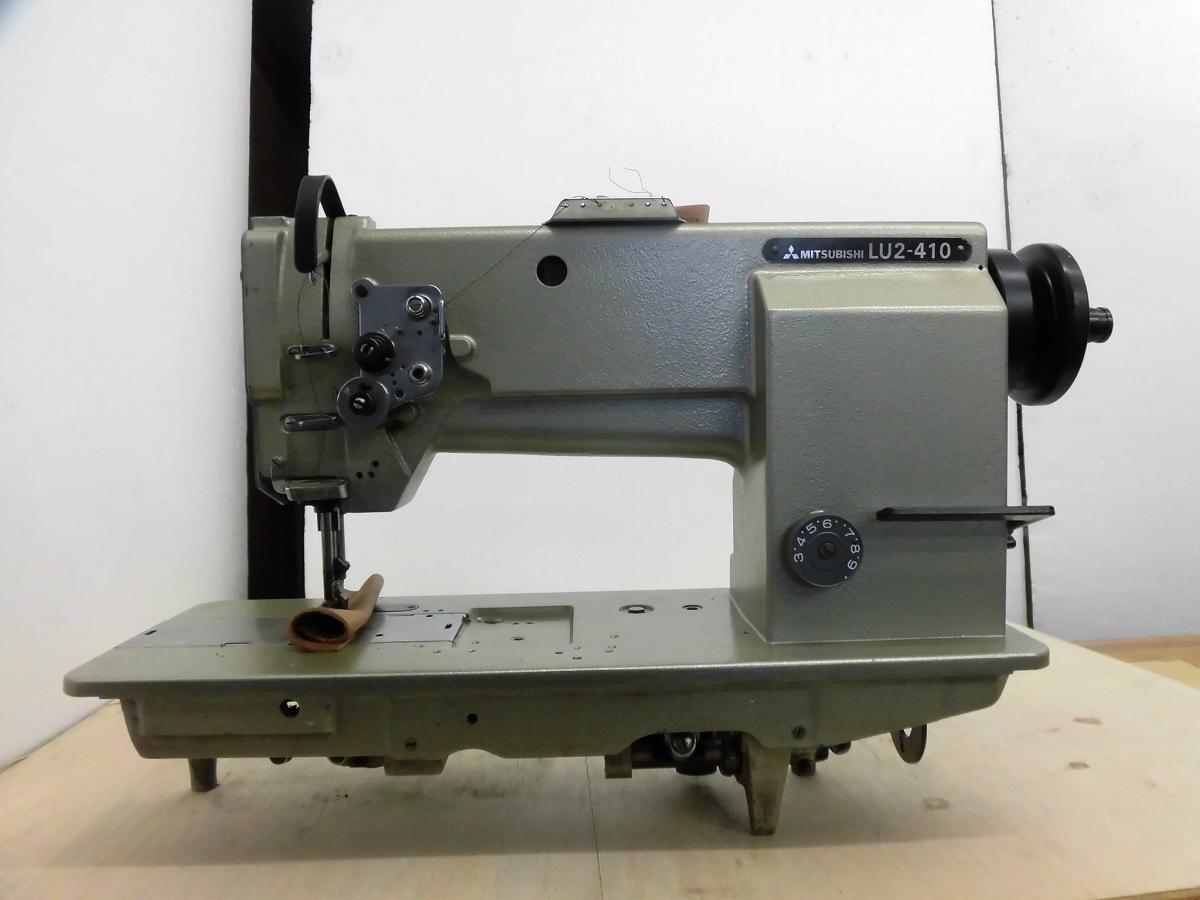 【中古】 三菱 MITSUBISHI ミツビシ 三菱ミシン 1本針 厚物 LU2-410型 自動糸切機能無し。頭部のみ。弊社にて整備済み、新品と同じく6か月の保証付。