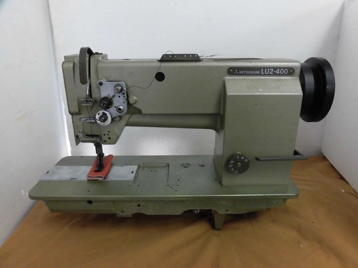 【中古】三菱ミシン MITSUBISHI ミツビシ 1本針総合送りミシン モデルNO- LU2-400-B0B型 頭部のみ テーブル・脚・モーターは、縫製物の大きさにより異なりますので、別途お見積りとなります。