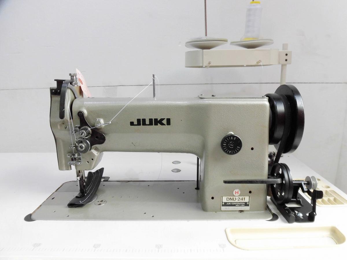 【中古】ジューキ JUKIミシン1本針総合送り大釜厚物用ミシン モデルNO-DNU-241-H型 頭部のみ テーブル・脚・モーターは別お見積りとなります。「縫製品により異なるため。」