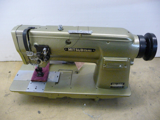 【中古】 三菱2本針本縫いミシン。 モデルNO-DN-260-22 3/4 頭部のみ