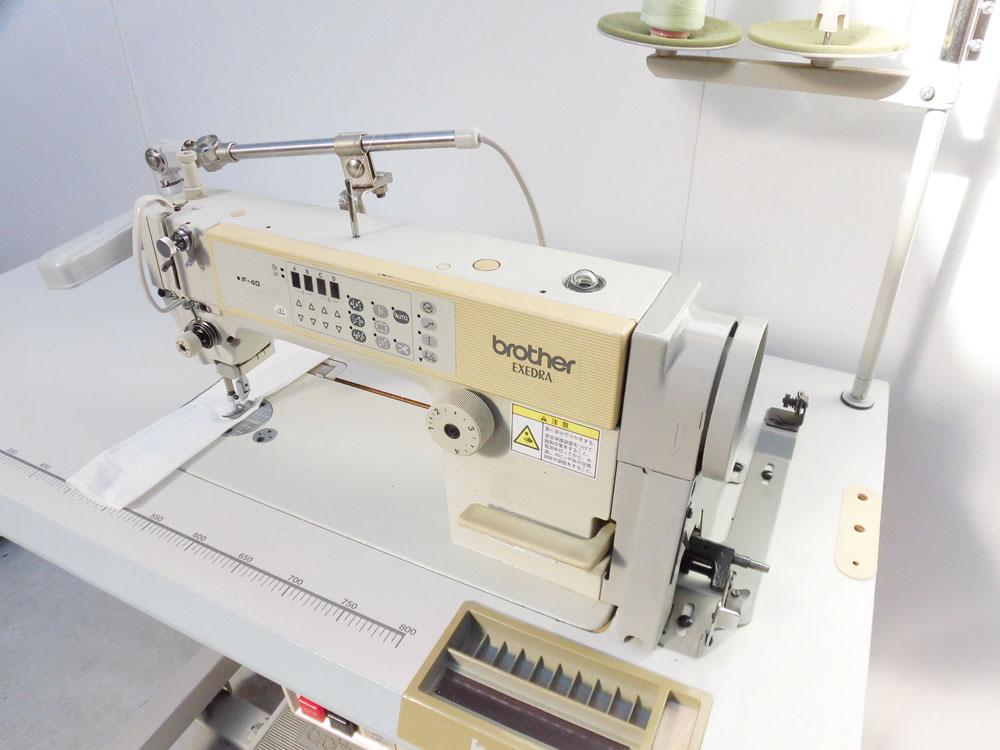 【中古】 ブラザー BROTHER 1本針自動糸切ミシン モデルNO-DB2-B737-313 Mark2型 100V仕様 ACサーボモーター。縫いはじめ、縫い終わり自動止め縫い機能付き。「ライトはおまけです。」