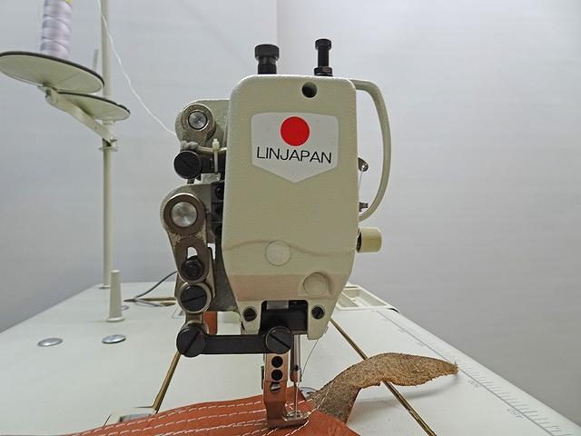 1本針本縫い上下送りミシン 大釜仕様。モデルNO-SSM-TY-3300C型100Vのダイレクトモーター付きの頭部