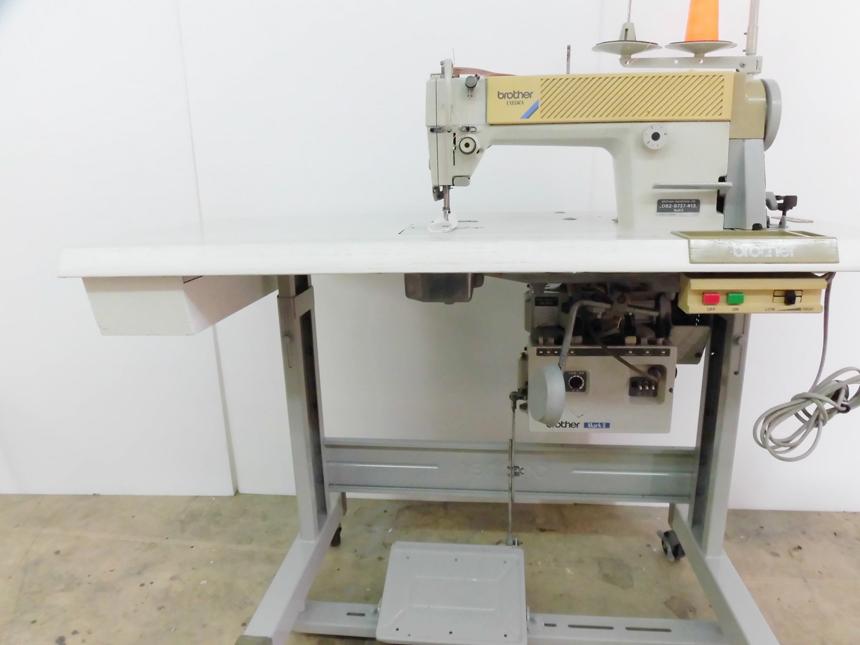 【中古】 ブラザー BROTHER ブラザー1本針自動糸切ミシン 100V仕様  モデルNO-DB2-B737-413型 弊社にて整備済み、新品と同じく6か月の保証付です。