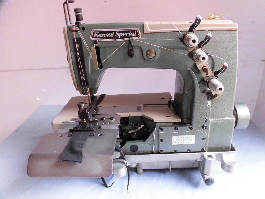 【中古】関西スペシャル 2本針扁平縫いベルトループ製作ミシン  モデルNO-DVK-1702-BK型