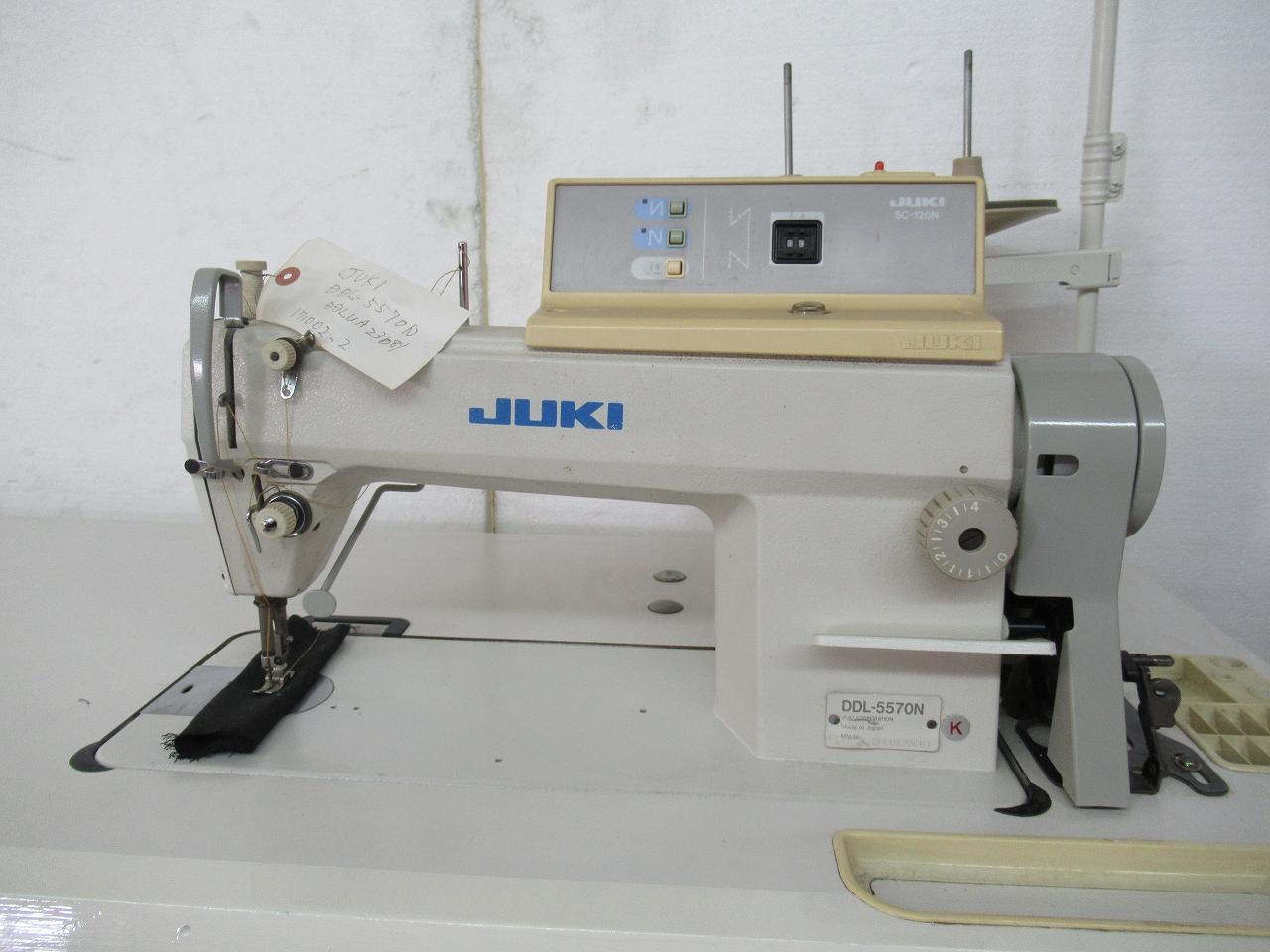 【中古】 ジューキ JUKIミシン 1本針自動糸きりミシン モデルNO DDL-5570N-SC-120N サーボモーター