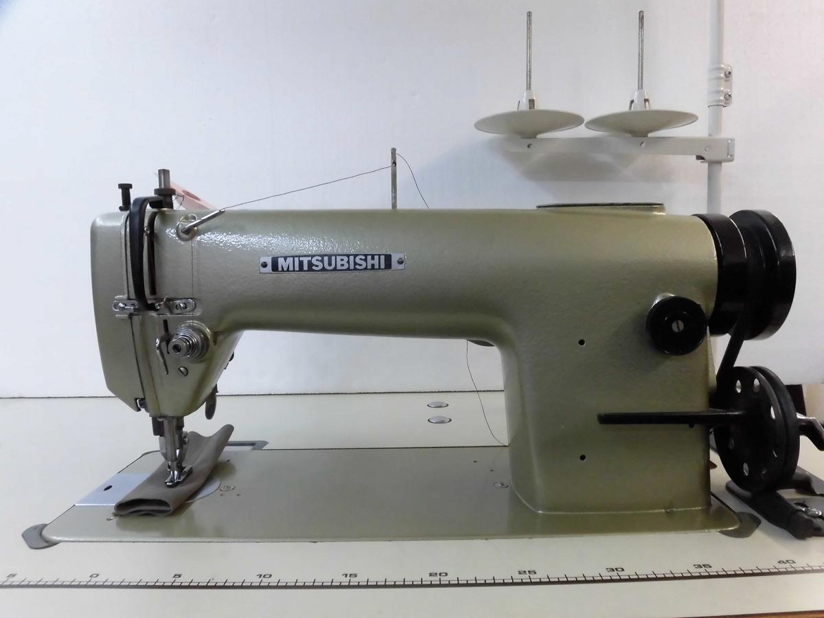 【中古】 三菱 MITSUBISHI ミツビシ 三菱1本針本縫い上下送り機能ミシン モデルNO-三菱DY-340型 DY340 頭部のみ。弊社にて整備済み、新品と同じく6か月の保障付き。 テーブル・脚・モーターは別お見積りとなります。