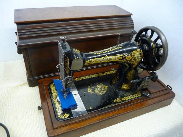 【中古】 シンガーミシン SINGER アンティークミシン 1903年製造 弊社にて整備済み。 6か月の保障付き