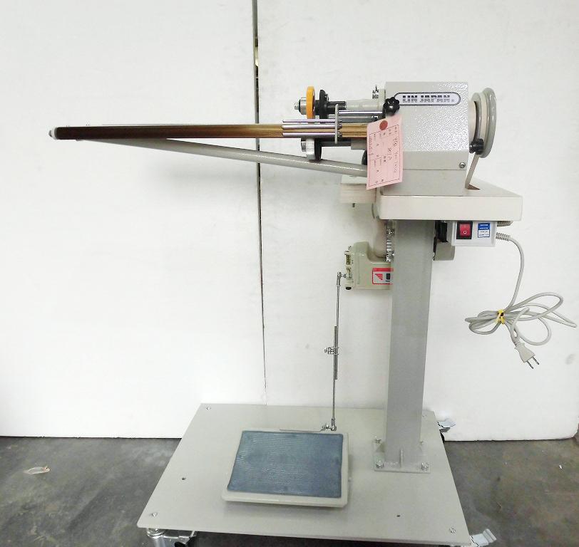SSM-801A型 テープ切り機 「頭部のみ。テーブル・脚・モーターは別お見積りとなります。工場にあまっている、テーブル・脚・モーターを弊社にお送りいただければ、サービスで組み立て取り付けいたします。」