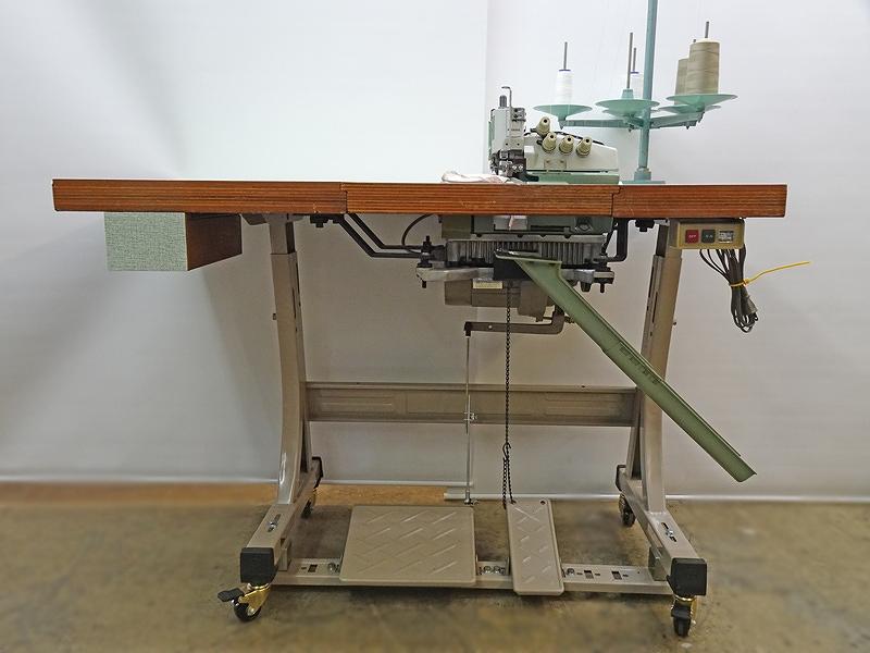 【中古】 ペガサス PEGASUS 2本針4本糸オーバーロックミシン モデルNO L52-18Sー1型 全沈式テーブル装備ですので、大きい縫製物等が楽に縫製できます。針冷却装置機能付き 100V 脚・卓・モーター付きのセットです。