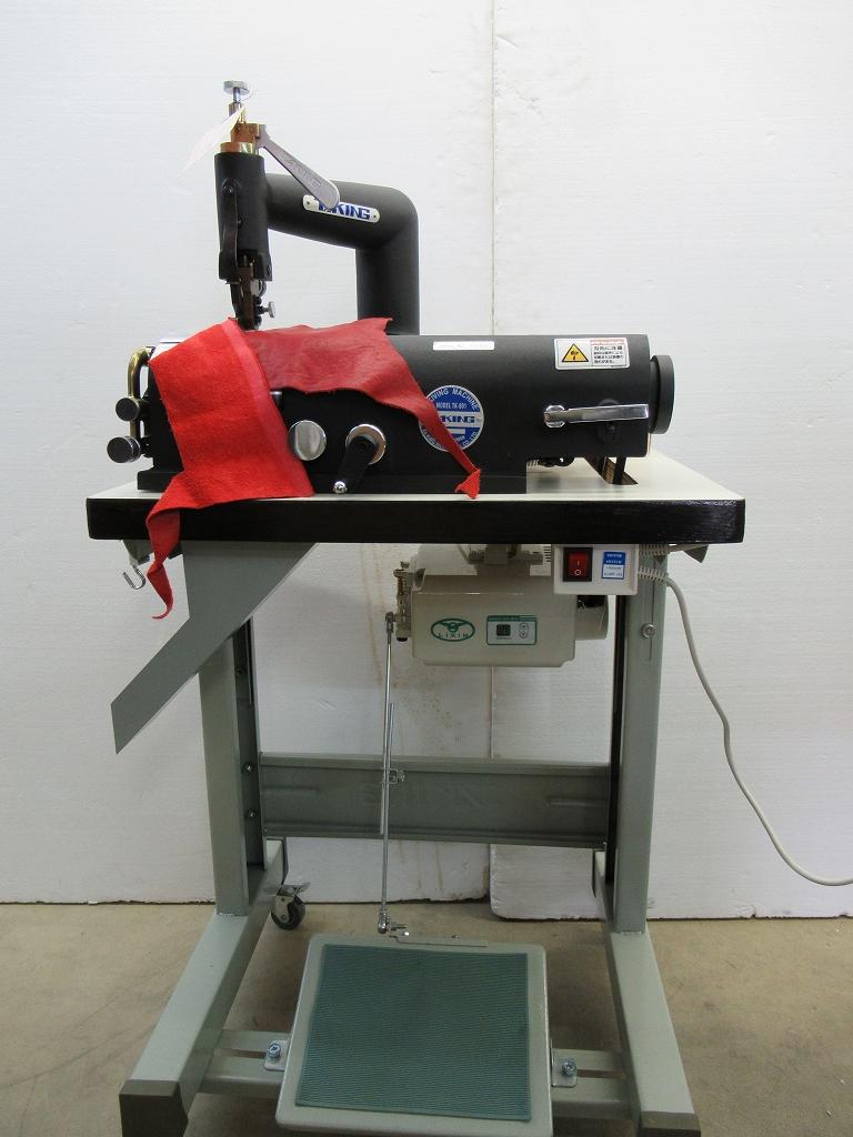 【展示品】台湾製 電動革漉き機 革剥き機 TAKING TK-801-BK テーブルモーター付 皮漉き機 皮剥き器