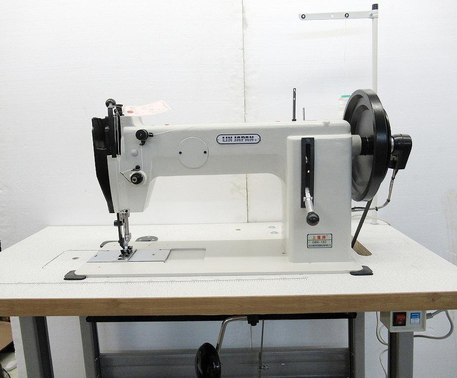 1本針本縫い上下機構送りミシン。半回転釜仕様。SSM-6-181-GB 頭部のみ