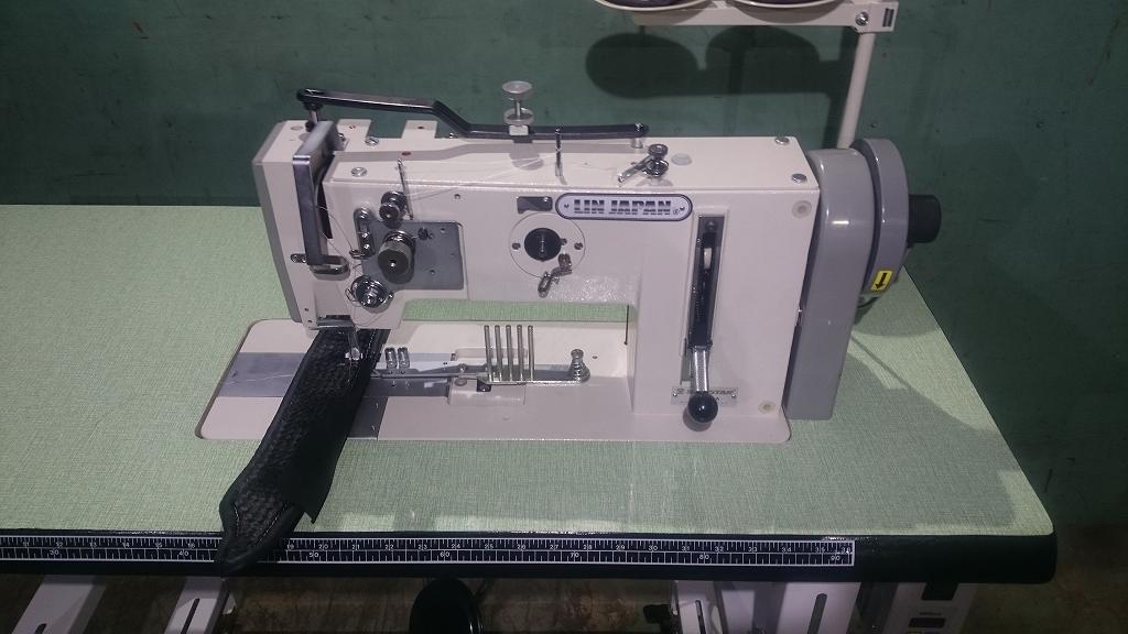 1本針総合送りマット縫製専用ミシン・ラッパ可動式。モデルNO-SSM-267-1A型頭部のみ テーブル・脚・モーター・ラッパは別お見積りとなります