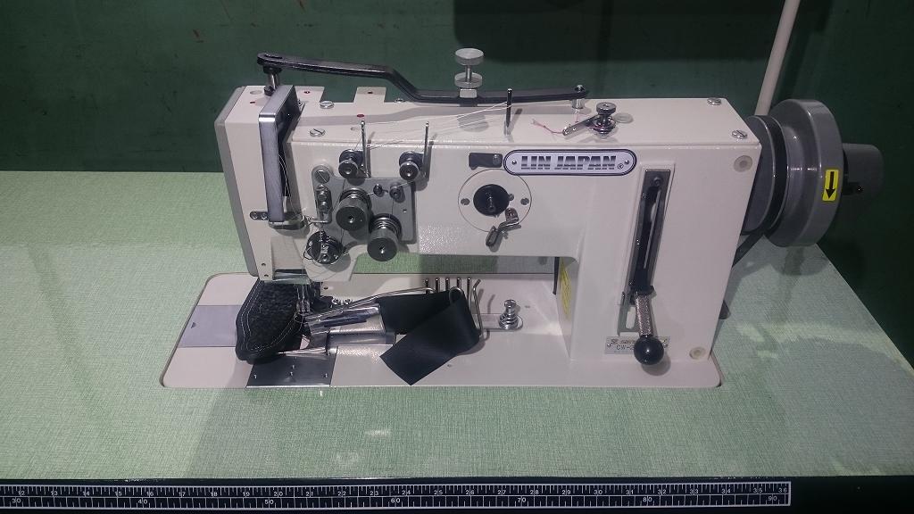 2本針総合送りマット縫製専用ミシン・ラッパ可動式。モデルNO-SSM-SSM-267-2A型頭部のみ。針幅6.4mm テーブル・脚・モーター・ラッパは別お見積りとなります。
