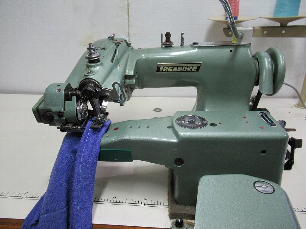 【中古】 トレージャー 奥まつり縫いミシン BS-170型 BS170 クラッチモーター付き。200V仕様 「100V仕様のお客様は、ご注文時指示おねがいします。」ミシン頭部・テーブル・脚・クラッチモーターセット