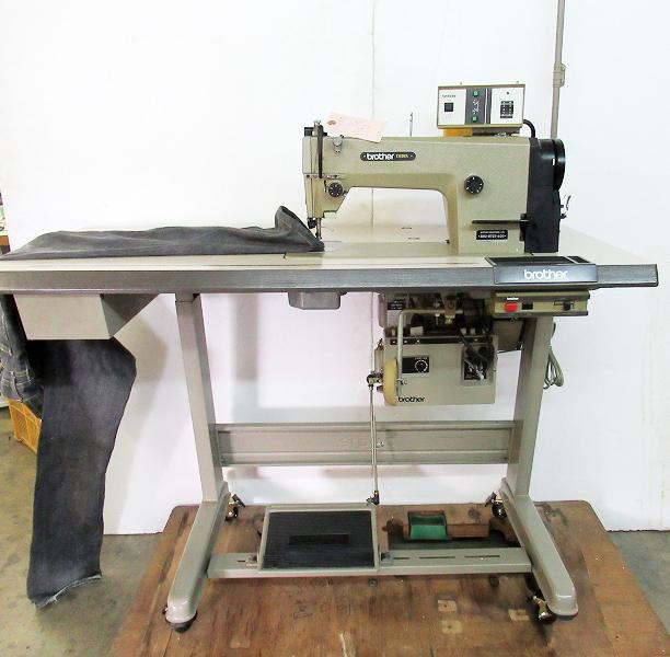 【中古】ブラザーミシン 1本針自動糸きりミシン モデルNO. DB2-B737-403 100V仕様 弊社にて整備済み、6か月の保証付きです。