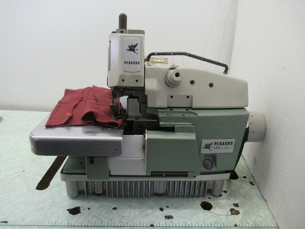 【中古】 ペガサス PEGASUS1本針2本糸、タオル等の三巻専用ミシン モデルNO L22-03x100L 頭部のみ