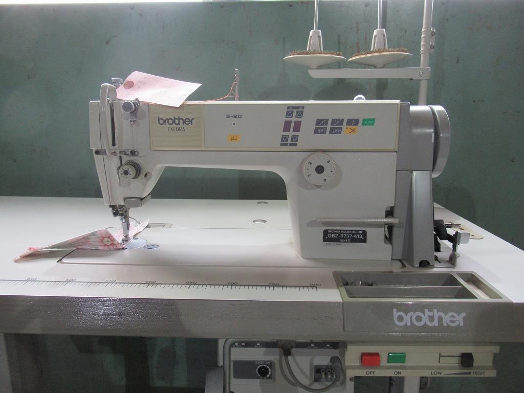【中古】 ブラザー 1本針自動糸きりミシン モデルNO- DB2-B737-413型 E-20 100V仕様