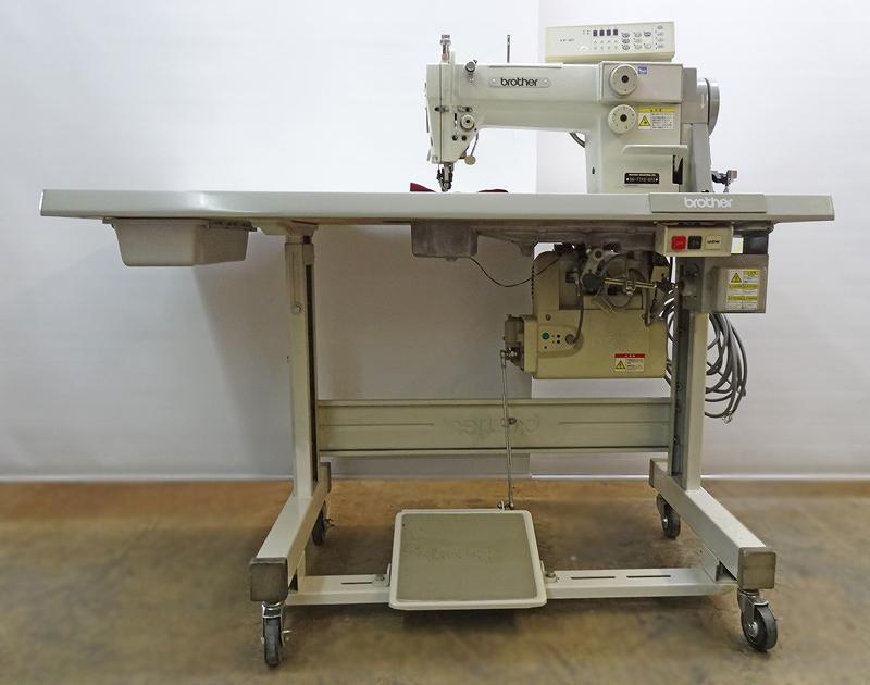 【中古】 ブラザー Brother ブラザーSA-7740-903型 1本針上下作動機能付き自動糸切ミシン自動押さえ上げ機能付き。「200Vです。100V仕様は、¥218000-税送料別となります。」
