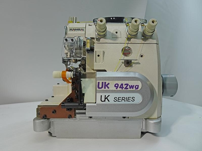 【新品】 関西スペシャル KANSAI SPECIAL 日本製 関西スペシャルモデルNO UK-1000H-WG型 軍手の手首のオーバーロックミシン 1本針3本糸。頭部のみ
