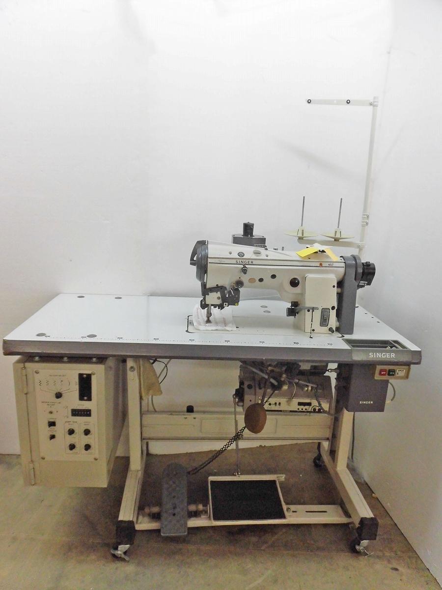 U0943806095 中古 海外 品質検査済 シンガー電子千鳥工業用ミシン モデルNO-457 7051C-61 最大ふり幅8mm 1本針多用 ミシン 途千鳥