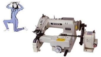 【新品】ウエットスーツ縫製ベルト送り装置付き、スクイミシン。 モデルNO-SSM-H-141-PS型頭部のみ 1本針1本糸用ミシン