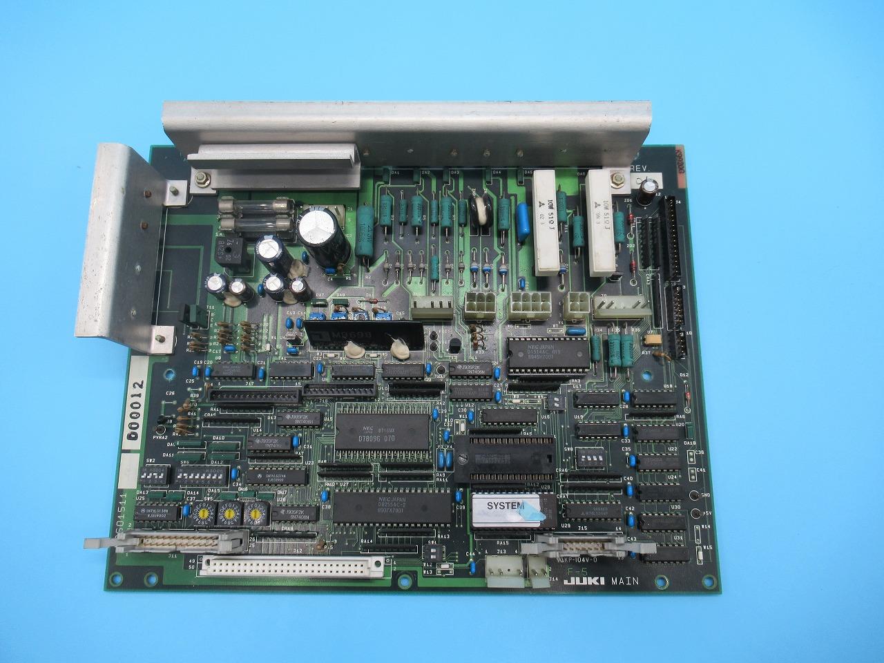 【中古】JUKI AMS-206B型用 MAIN 基盤 M8601511 日本製です。保証期間は、新品の基盤と同じく6か月の保証付きです。