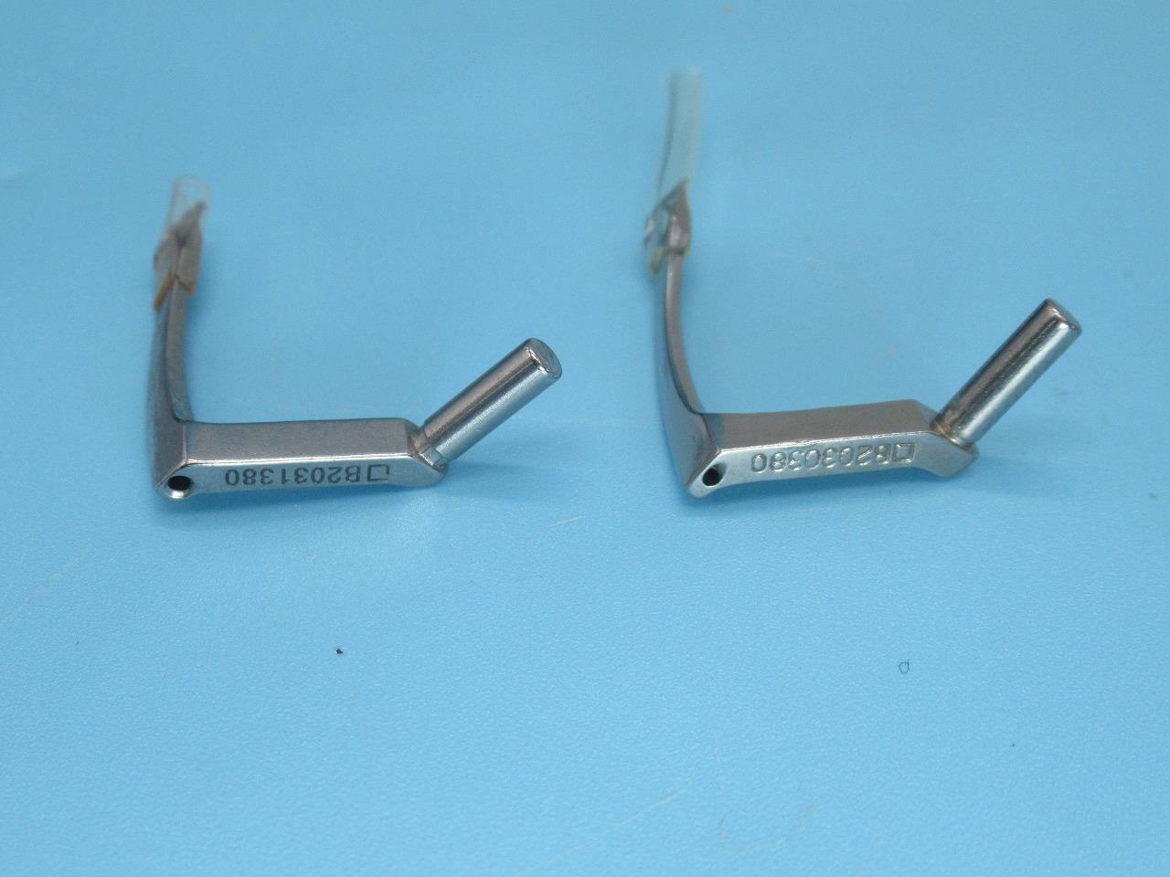 新品 JUKI ジューキ 平2本針2重環縫い MH-380型用 7.9mm 右側ルーパーB2030-380-000+左側ルーパーB2031-380-000です 1本の価格です 16