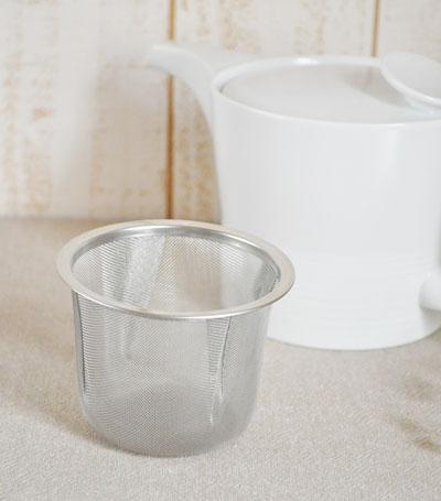 ポットにぴったりの便利な茶こし 白山陶器 ストレーナー 麻の糸ポット 専用 選択 当店は最高な サービスを提供します L ミストホワイトポット