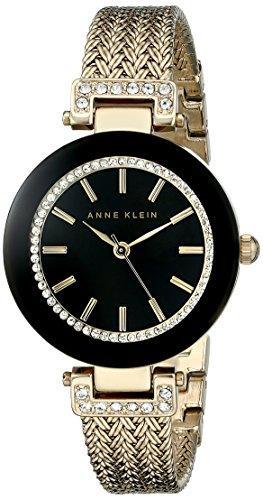 アンクライン Anne Klein 女性用 腕時計 レディース ウォッチ ゴールド AK/1906BKGB 女性らしいデザイン かわいい 送料無料 【並行輸入品】