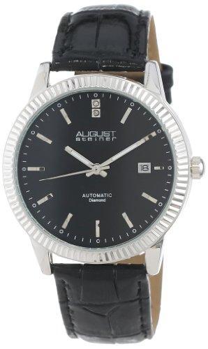 オーガストシュタイナ August Steiner 男性用 腕時計 メンズ ウォッチ ブラック AS8025BK 送料無料 【並行輸入品】
