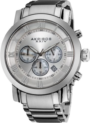 アクリボス Akribos XXIV 男性用 腕時計 メンズ ウォッチ シルバー AK622SS 送料無料 【並行輸入品】