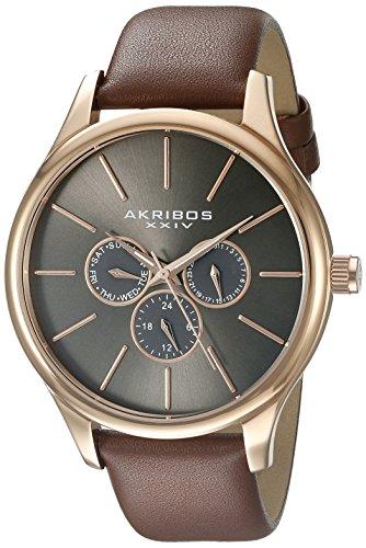 アクリボス Akribos XXIV 男性用 腕時計 メンズ ウォッチ コニャック AK870RG 送料無料 【並行輸入品】