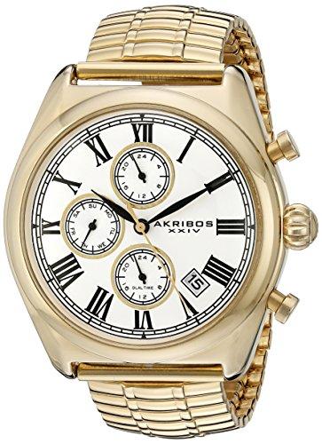 アクリボス Akribos XXIV 男性用 腕時計 メンズ ウォッチ ゴールド AK827YG 送料無料 【並行輸入品】