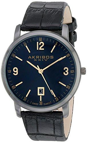 アクリボス Akribos XXIV 男性用 腕時計 メンズ ウォッチ ブラック AK780BK 送料無料 【並行輸入品】
