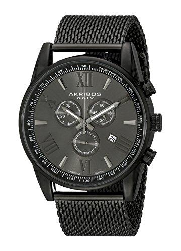 アクリボス Akribos XXIV 男性用 腕時計 メンズ ウォッチ クロノグラフ ブラック AK813BK 送料無料 【並行輸入品】