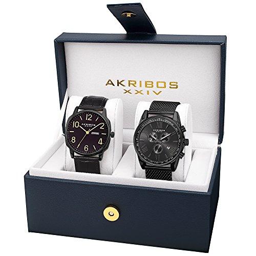 アクリボス Akribos XXIV 男性用 腕時計 メンズ ウォッチ ブラック AK885BK 送料無料 【並行輸入品】
