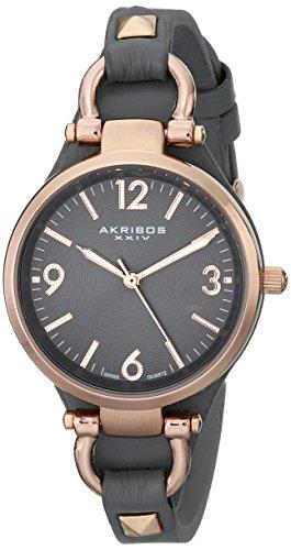 大洲市 アクリボス Akribos XXIV 女性用 腕時計 レディース ウォッチ グレー AK761GY 送料無料 【並行輸入品】, 緒方商会 5c5cd38e