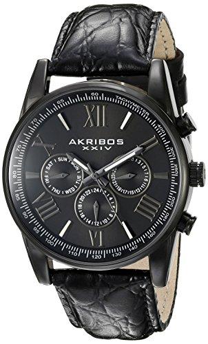 アクリボス Akribos XXIV 男性用 腕時計 メンズ ウォッチ ブラック AK864BK 送料無料 【並行輸入品】