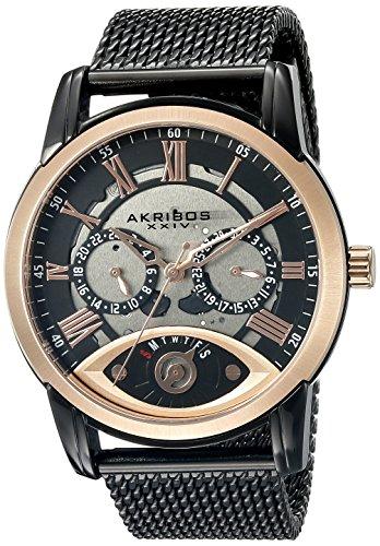 アクリボス Akribos XXIV 男性用 腕時計 メンズ ウォッチ シルバー ブラック AK846BKR 送料無料 【並行輸入品】