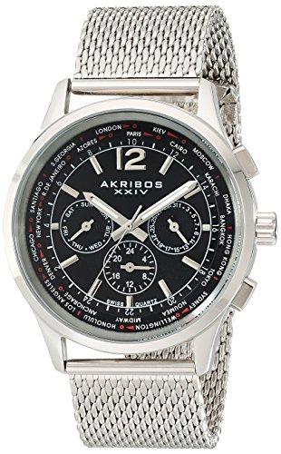 アクリボス Akribos XXIV 男性用 腕時計 メンズ ウォッチ ブラック AK716SSB 送料無料 【並行輸入品】