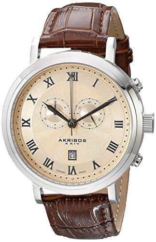 アクリボス Akribos XXIV 男性用 腕時計 メンズ ウォッチ クロノグラフ ゴールド AK591SS 送料無料 【並行輸入品】