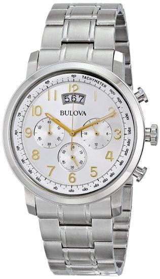 ブローバ Bulova 男性用 腕時計 メンズ ウォッチ シルバー 96B201 送料無料 【並行輸入品】