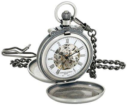 チャールズヒューバート Charles-Hubert, Paris 懐中時計 ポケット ウォッチ ホワイト 3868-S 送料無料 【並行輸入品】