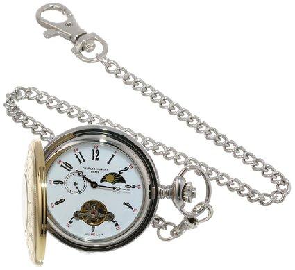 チャールズヒューバート Charles-Hubert, Paris 懐中時計 ポケット ウォッチ ホワイト 3553-T 送料無料 【並行輸入品】